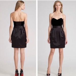 Theory Chanesa Dress Velvet and Satin size 10